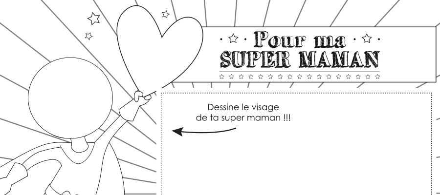 Cadre Photo à Colorier Pour La Fête Des Super Maman
